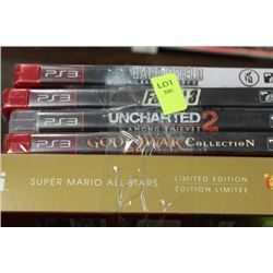 SUPER MARIO WII GAMES W/ PS3 GAMES