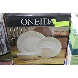 ONEIDA 16 PCS DISH SET