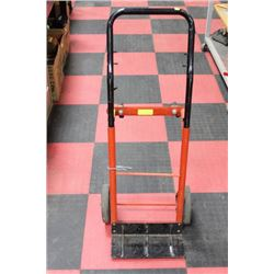 RED AND BLACK 2/4 WHEEL DOLLY, CONVERTIBLE
