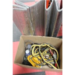 AUTOMOTIVE BOX W/ AIR PUMP, TOW ROPE