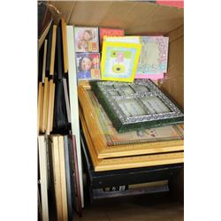 LARGE BOX OF PHOTO ALBUMS & FRAMES
