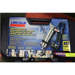 LINCOLN 18 VOLT PROFESSIONAL 2 SP CORDLESS GREASE