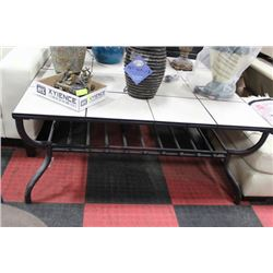 LARGE TILE TOP COFFEE TABLE