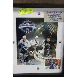 AUTHENTIC AUTOGRAPH FRAMED HOCKEY PICTURE