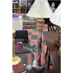 DESIGNER FLOOR LAMP, GOLD LEAF STYLE