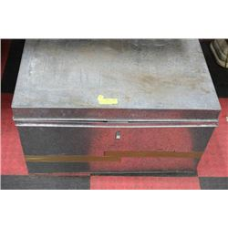 PAIR OF GALVANIZED STORAGE BOXES, WATER RESISTANT