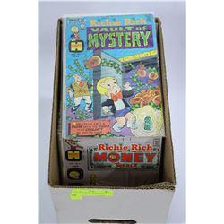 BOX OF 75 RICHIE RICH COMICS