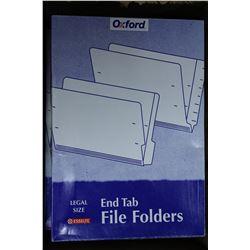 BOX OF OXFORD FILE FOLDERS