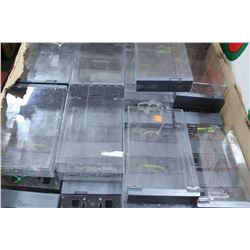 BOX OF RETAIL SECURITY CASES