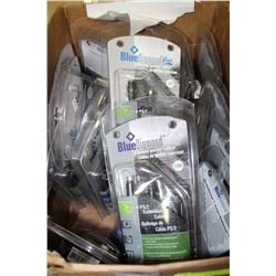 BOX OF PREMIUM CABLES INC. PS-2, FIREWIRE ECT