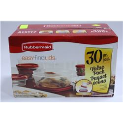 RUBBERMAID 30 PIECE CONTAINER SET
