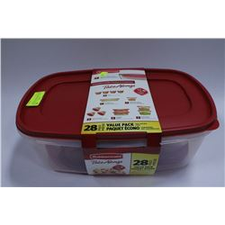 28 PIECE RUBBERMAID CONTAINER SET