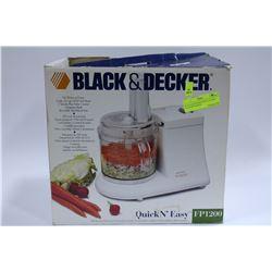 BLACK & DECKER QUICK 'N' EASY FOOD PROCESSOR
