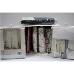 BOX OF ASSORTED NEW CURTAINS