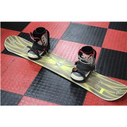 SNOWBOARD SOLD WITH BOOTS BINDINGS SIZE 5 BOOT