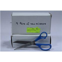 2 BOXES OF 9 PR OF SCISSORS