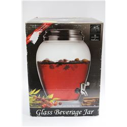 GLASS 3  GALLON SS BEVERAGE JAR