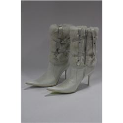 SIZE 9 SYNTHETIC FUR BOOTS