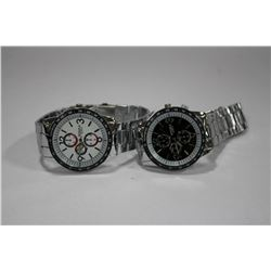 PAIR OF NEW STAINLESS STEEL WATCHES ON CHOICE