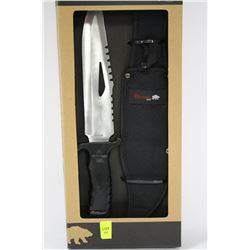 NEW OLYMPIA 30444PKH HUNTING KNIFE WITH CASE