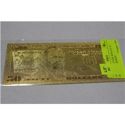 US 24KT GOLD FOIL REPLICA 50 DOLLAR BANKNOTE