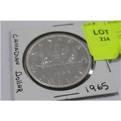 1965 SILVER CANADIAN DOLLAR COIN