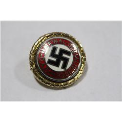 BRASS NAZI UNIFORM BADGE, 1939 NSDAP