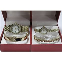 HIS AND HER WATCH AND BRACELET SET X 2