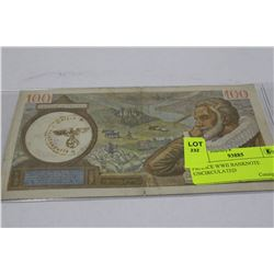 FRANCE WWII BANKNOTE UNCIRCULATED