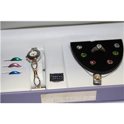 DENACCI LADIES WATCH AND JEWELRY SET