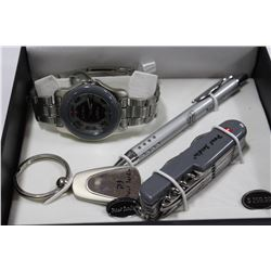 MENS PAUL JAIDEN KNIFE AND WATCH GIFTSET