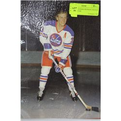 VINTAGE ANDERS HEDBERG SIGNED 8 X 10 PICTURE