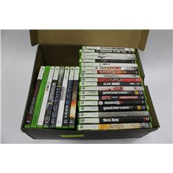 BOX OF 28 XBOX 360 GAMES