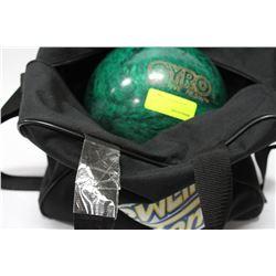 GYRO REACTIVE RESIN BOWLING BALL & BAG