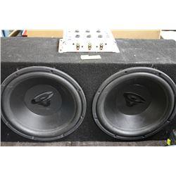 SUBWOOFER W/ ALPINE AMP, MULTIMODE POWER AMP,