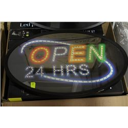 NEW OPEN 24HRS LED SIGN