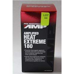 120 GNC AMPLIFIED HEAT EXTREME 180 SPORTS CAPSULES