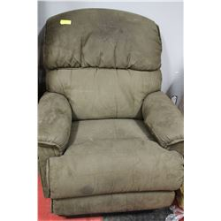 BROWN FABRIC LA-Z-BOY POWERED LIFT RECLINER