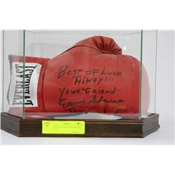 ERNIE SHAVERS SIGNED BOXING GLOVE