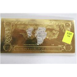 ANITGUA/BARBUDA 23K GOLD FOIL $50 BANK NOTE