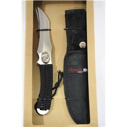 NEW OLYMPIA 30341 PKH HUNTING KNIFE W CASE