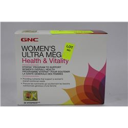 BOX W 30 VITA PACKS GNC WOMENS ULTRA MEGA