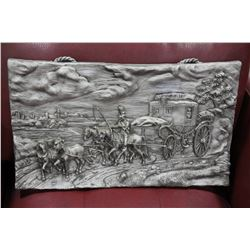 STAGE COACH PEWTER STYLE 3D PICTURE