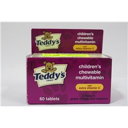 BOTTLE OF 60 TEDDYS CHOICE CHILDRENS CHEWABLE