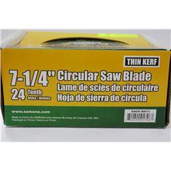 "CASE OF 24 CONTRACTOR GRADE 7 1/4"" CIRCULAR SAW"