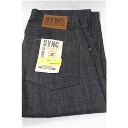 PAIR OF SYNC DENIM JEANS SIZE 28