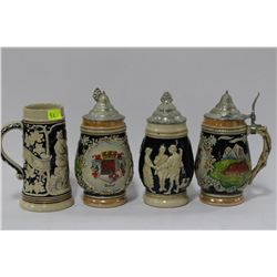 COLLECTABLE STEINS X 4