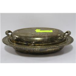 SILVERPLATED SERVING DISH W/ LID