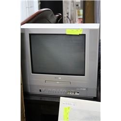 TOSHIBA TV W/ BUILT-IN DVD PLAYER & FRONT GAME