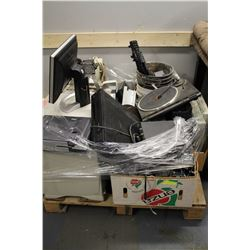 PALLET OF MISC ELECTRONIC EQUIPMENT AND MISC.